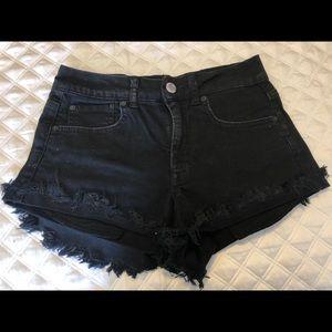 Black high waisted shorts